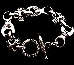 029. Custom Wrench And Skull Bracelet..jpg