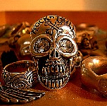 09W. Giant Rock n Roll Silver Skull Ring.jpg