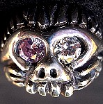 109M. Monkeyman Skull Ring.jpg
