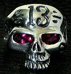 115R Custom Lucky 13 Skull Ring (silver).jpg