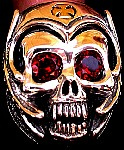17B. Boneman Skull Ring With Gold Cross.jpg