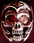 26B. Custom Silver Skull Ring Gold Cross.jpg