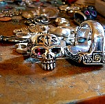 39D. Custom Skull Ring On Workbench.jpg