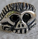 72M. Black Eyed Monkeyman Skull Ring.jpg
