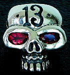 78D. Custom Lucky 13 Silver Skull Ring.jpg