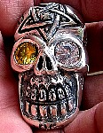 94s. Huge Skull Ring With Pentagram.jpg